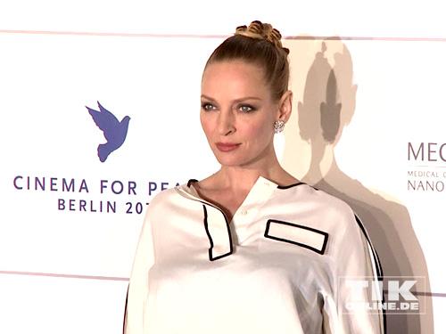 "Uma Thurman auf der ""Cinema for Peace""-Gala 2014"