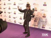 Panik-Rocker Udo Lindenberg posiert mit seinem Echo