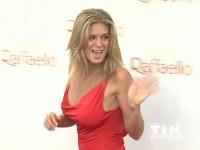Rachel Hunter im roten Kleid beim Raffaello Summer Day 2014