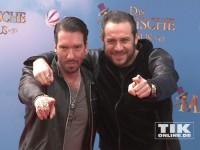 """The BossHoss-Rocker Alec und Sascha gut gelaunt bei der Deutschland-Premiere von """"Das magische Haus"""""""