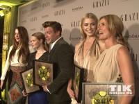 """Die Gewinner der """"Best Dressed Awards"""" 2014: Mareile Höppner, Lena Gercke, Ken Duken, Karoline Herfurth und Julia Malik"""