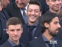 Mesut Özil, Thomas Müller und Sami Khedira
