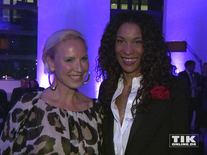 """Annabelle Mandeng und Nadja Michael auf der """"James Bond""""-Party der Luxusmarke S.T. Dupont"""