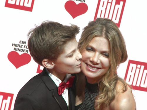 Ursula Karven & Sohn Liam