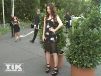 Lena Meyer-Landrut rank und schlank bei der Eröffnung der Sommer Fashion Week Berlin 2014