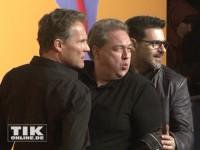 """Heiße Posen von Christian Tramitz, Oliver Kalkofe und Rick Kavanian bei der """"Free Birds""""-Premiere in Berlin"""