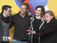 """Christian Tramitz, Oliver Kalkofe, Nora Tschirner und Rick Kavanian haben Spaß auf der """"Free Birds""""-Premiere in Berlin"""