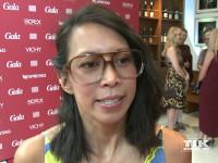 Minh-Khai Phan-Thi mit großer Nerd-Brille beim Gala Fashion Brunch 2015