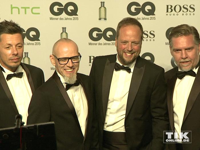 """Die Fantastischen Vier im schnieken Smoking bei den GQ """"Männer des Jahres"""" 2015 Awards"""