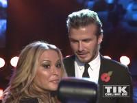 Anastacia und David Beckham bei den GQ Männer des Jahres Awards 2013