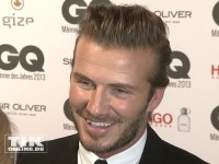 David Beckham gut gelaunt bei den GQ Männer des Jahres Awards 2013
