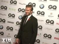 David Beckham auf dem roten Teppich bei den GQ Männer des Jahres Awards 2013