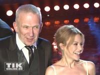 Jean Paul Gaultier und Kylie Minogue haben Spaß bei den GQ Männer des Jahres Awards 2013