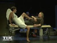 """Gunter Gabriel und sein """"Schutzengel"""" Barbara Felsenstein in dem Stück """"Ich, Gunter Gabriel - Mein Leben mit Musik"""""""