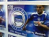 Hertha BSC Briefmarke mit Yildiray Bastürk