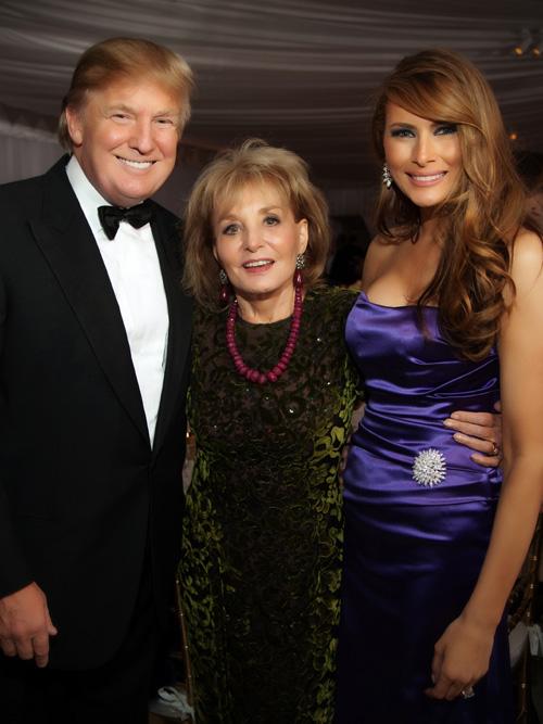 Donald Trump Mit Barbara Walters Und Melania Trump Tikonline De