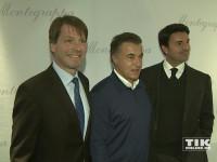 Jean Alesi mit dem CEO Giuseppe Aquila und Thomas Schnädter, dem neuen geschäftsführenden Gesellschafter von Montegrappa Northern Europe