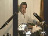 Auch Sylvester Stallone ist begeistert von der Qualität der Montegrappa-Produkte