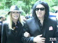 KISS-Gründungsmitglied Gene Simmons mit seiner Frau Shannon Tweed