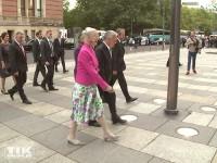 Bundespräsident Joachim Gauck und Königin Margrethe von Dänemark