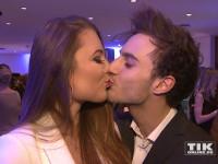 Konnten nicht voneinander lassen: Joelina Drews und ihr Freund Marc Aurel knutschten ohne Unterlass auf der Lausbuben-Party