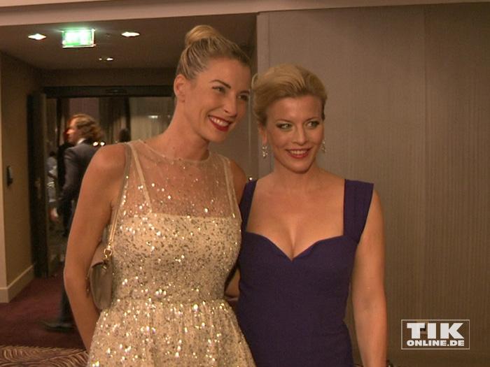 Auch Giulia Siegel und Eva Habermann waren Gäste auf der Lebensherbst-Gala 2015