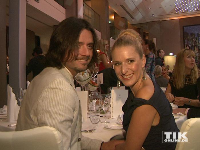 Stefanie Hertel und ihr Mann Lanny strahlten auf der Lebensherbst-Gala 2015 für die Fotografen