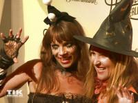 Jean Bork und Claudia Campus kamen als Hexen zur Halloween-Party von Natascha Ochsenknecht