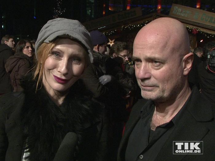 """Andrea Sawatzki und ihr Ehemann Christian Berkel bei der Premiere von """"Ich bin dann mal weg"""" in Berlin"""