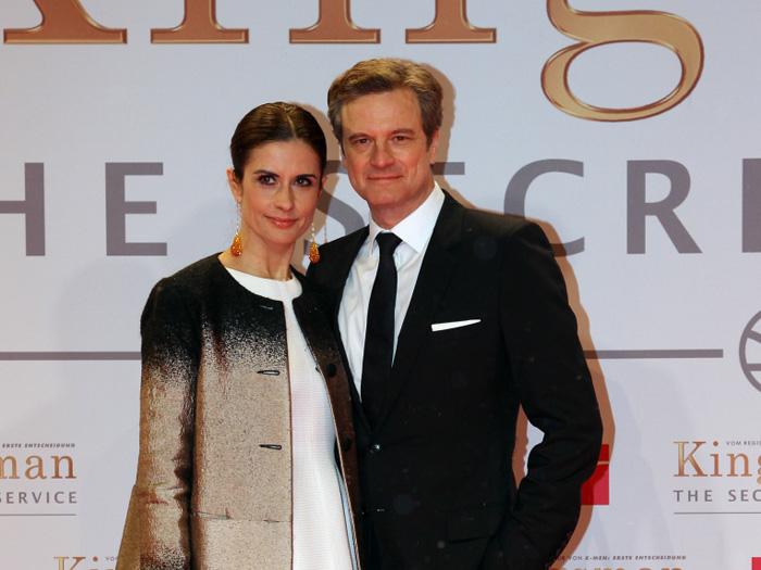 Colin Firth und seine Ehefrau Livia Giuggioli