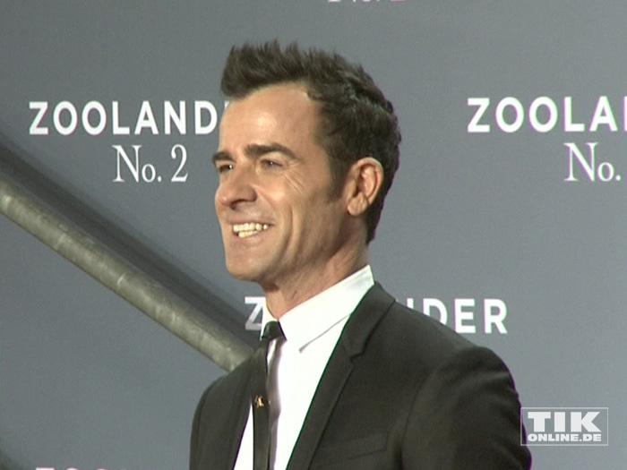 """Justin Theroux, ehemann von Jennifer Aniston, auf der """"Zoolander 2""""-Premiere in Berlin"""