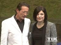 Jasmin Tabatabai und Regisseur Oskar Roehler beim Produzentenfest 2014