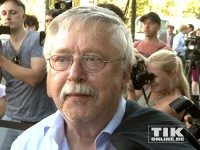 Liedermacher Wolf Biermann kam zum gratulieren zum 60. Geburtstag von Kanzlerin Merkel