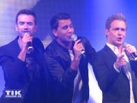 Florian Silbereisen performt mit seinen Klubbb3-Kollegen Jan Smit aus Holland und Christoff bei den Smago Awards in Berlin