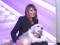 Ireen Sheer posiert bei den Smago Awards in Berlin mit ihrem geliebten Hund Khyira