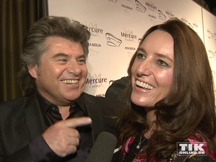 Andy Borg und seine Ehefrau Birgit gut gelaunt bei den Smago Awards in Berlin