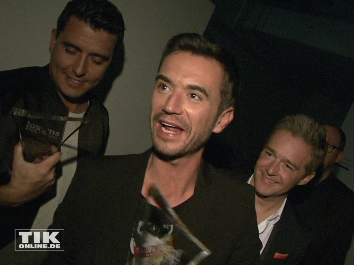 Florian Silbereisen und seine Klubbb3-Kollegen Jan Smit aus Holland und Christoff bei den Smago Awards in Berlin