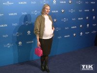 Präsentierte stolz ihren Baby-Bauch: Rosalie Thomass bei der ARD Blue Hour 2016