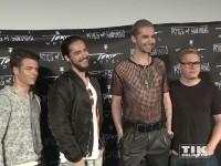 Tokio Hotel posieren für die Presse