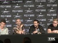 """Tokio Hotel stehen auf der """"Kings of Suburbia""""-Pressekonferenz Rede und Antwort"""