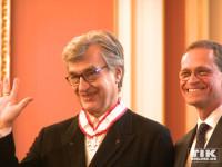 Wim Wenders bedankt sich für die Ehe, mit dem Berliner Landesordens ausgezeichnet worden zu sein