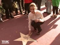 Claudia Michelsen mit ihrem Stern