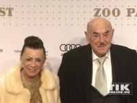 Artur Brauner und seine Ehefrau Maria bei der Wiedereröffnung des Berliner Zoo Palasts